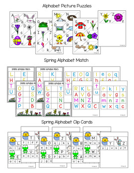 Spring Alphabet Centers & Activities PreK - K