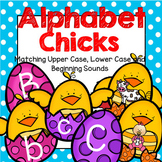 Spring Alphabet Chicks - Matching Upper Case, Lower Case and Beginning Sounds