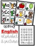 Spring Alphabet For Pocket Chart