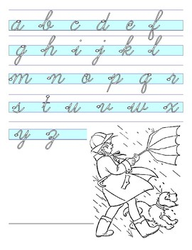 Spring Alphabet Guided Cursive Writing