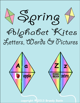 Spring Alphabet Kites - Letters, Words, and Pictures