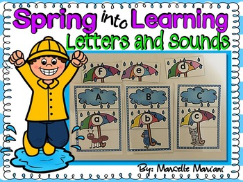 Spring- Alphabet Letters and Sounds Literacy Centre Activity