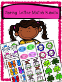 Spring Alphabet Match Bundle - Upper and Lower Case Letter Recognition