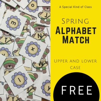 Spring Alphabet Match Freebie