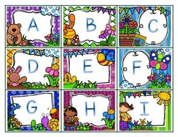 Spring Alphabet Matching/Memory Game