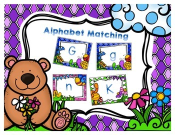 Spring Alphabet Matching/Memory Game