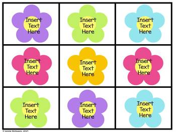 Spring Alphabet Phonics Game EDITABLE: Flowers & Bees