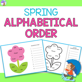 Spring Alphabetical Order Worksheets