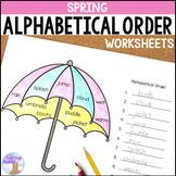 Spring Alphabetical Order Worksheets