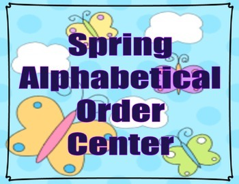 Spring Alphabetical Order Center~Free!!!