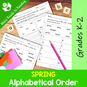 Spring Alphabetical Order: Grades 1-2