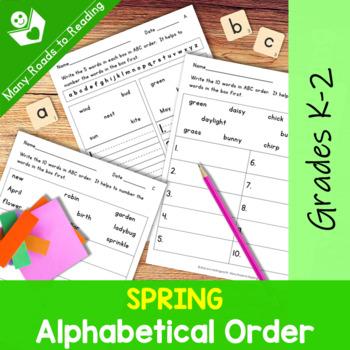 Spring Alphabetical Order Grades 1-2