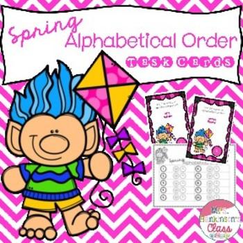 Spring Alphabetical Order Task Cards