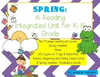 Spring BUNDLE: 90+ Pages Weather, Frogs, Butterflies & More Integrated PACK