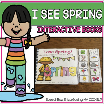 Spring - An Interactive Book to Help Students Learn Spring Vocabulary