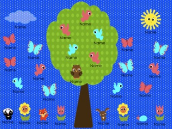 Spring Animal Attendance - SMARTBoard