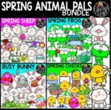 Spring Animal Pals Clip Art Bundle