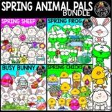 Spring Animal Pals Clip Art Bundle
