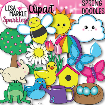 Spring Animals Plants and Things Clipart