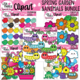 Spring Animals and Garden Clipart Bundle