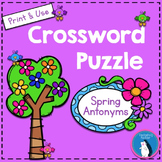 Spring Antonyms Crossword Puzzle