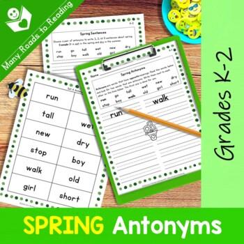Spring Antonyms: Grades 1-2