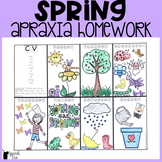 Spring Apraxia Homework