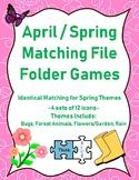 Spring / April File Folder Matching Games