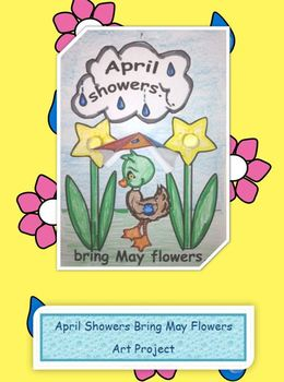 3D Spring April Showers Bring May Flowers Art Project