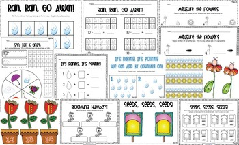 Plants & Spring - April Showers Bring May Flowers - Math, Literacy & MORE