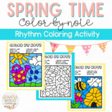 Spring & April Showers Color-by-Note Music Coloring Pages
