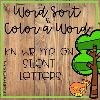 Spring, April Silent Letters (gn,kn, mb, wr) word sort