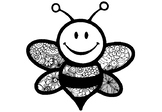 6 Spring Art Activity, Pattern Art Honey Bee Coloring Pages, Spring Art Sub Plan