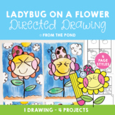 Spring Art - Ladybug on a Flower Directed Drawing