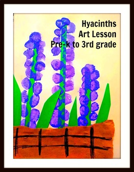 Spring Art Lesson Hyacinths Lesson Close Reading ELA Lesson Project Discussion