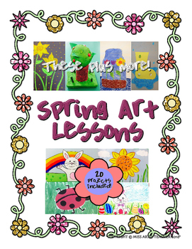 Spring Art Lessons By Miss Artsy Teacher