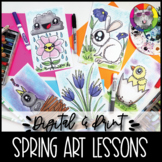 Spring Art Lessons Booklet, Distance Learning {DIGITAL & PRINT!}