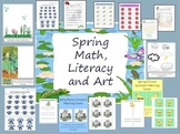 Spring Art, Literacy, and Math Packet Printables for Centers and More!