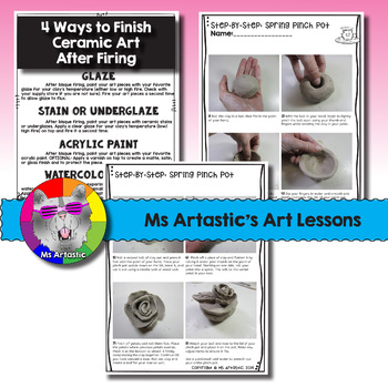 Spring Art Project, Ceramic Pinch Pot