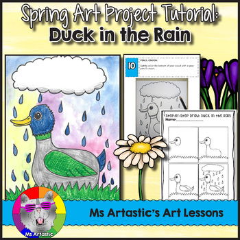 Spring Art Project, Duck in the Rain