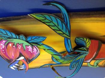 Spring: Art Lesson for Kids: Carnivorous Plant