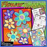 Mother's Day: Art Lesson Plan for Kids: Flower Rubbing, Spring