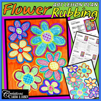 Mother's Day: Art Lesson Plan for Kids: Flower Rubbing, Spring