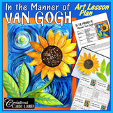 In the Style of Vincent Van Gogh, Spring: Art Lesson for Kids,  Impressionnist