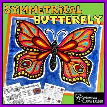 Spring Art Lesson For Kids Symmetrical Butterfly Math Tpt