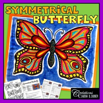 Spring: Art Lesson for Kids: Symmetrical Butterfly ! Math
