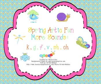 Spring Artic Fun: More Sounds (k,g,f,v,sh,ch)