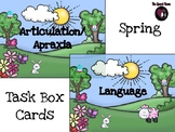Spring Artic & Language Task Box Cards