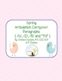 Spring Articulation Carryover Paragraphs (S, Z, R & TH)