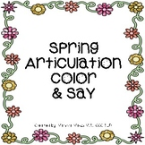 Spring Articulation Color & Say